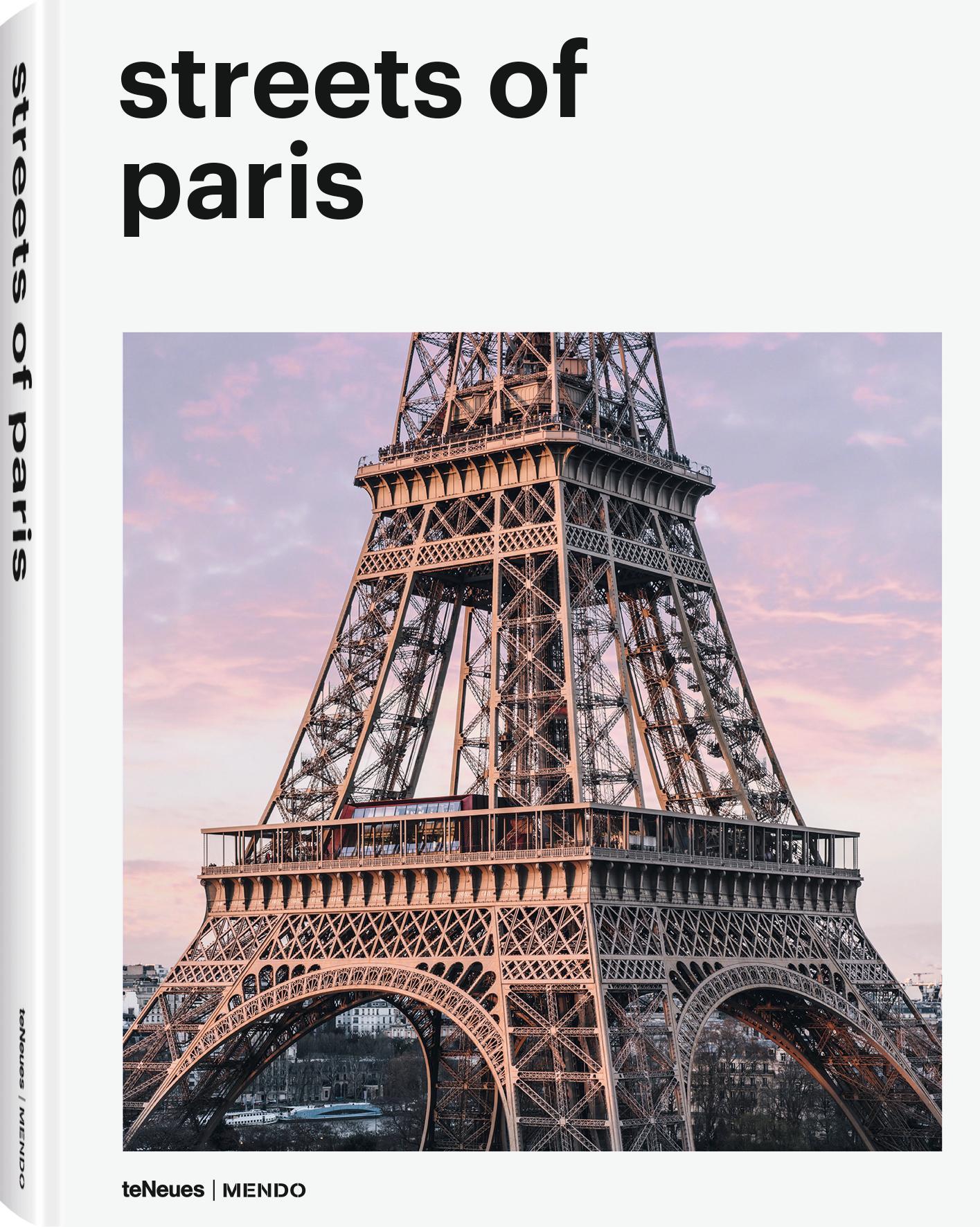Geïllustreerd boek Streets Of Paris, Papier, hardcover, Multicolour, 22 x 29 cm