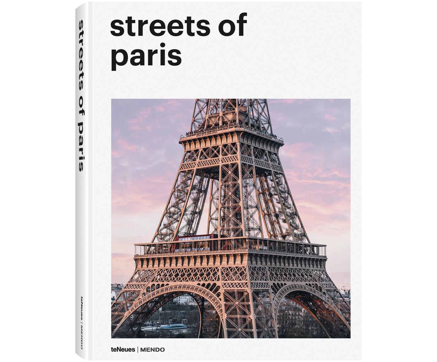 Libro illustrato Streets Of Paris, Carta cornice rigida, Multicolore, Lung. 29 x Larg. 22 cm