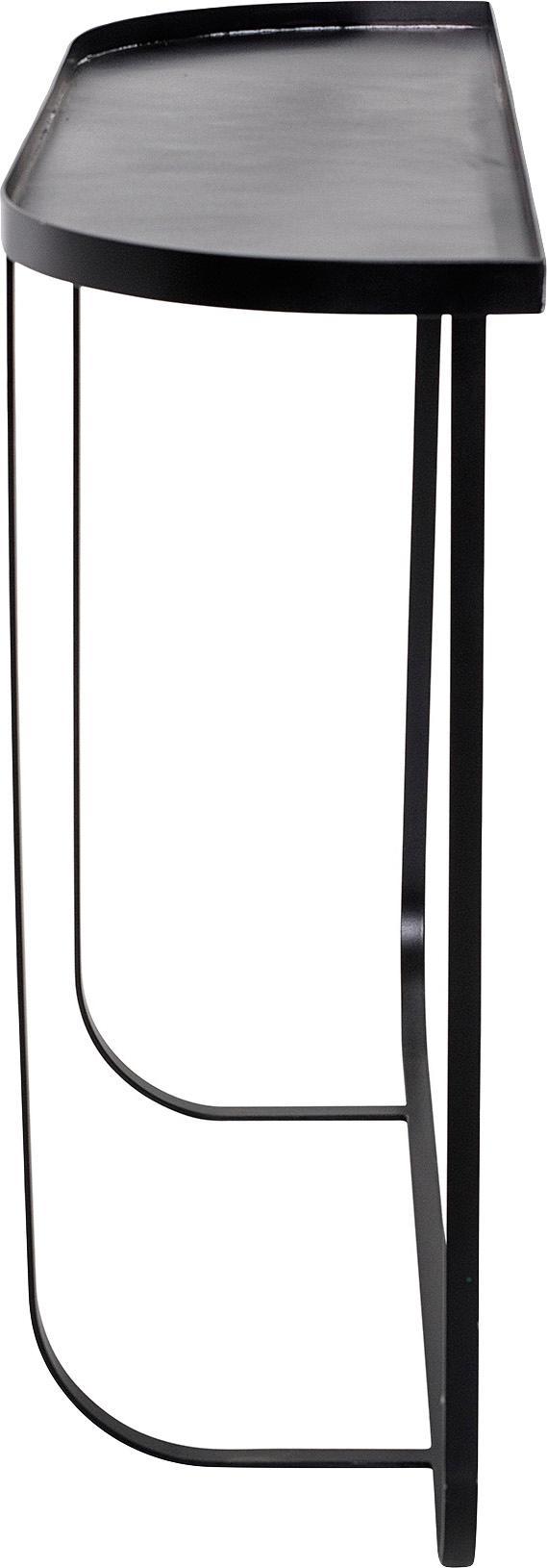 Konsole Harper aus Metall, Metall, pulverbeschichtet, Schwarz, B 100 x T 30 cm