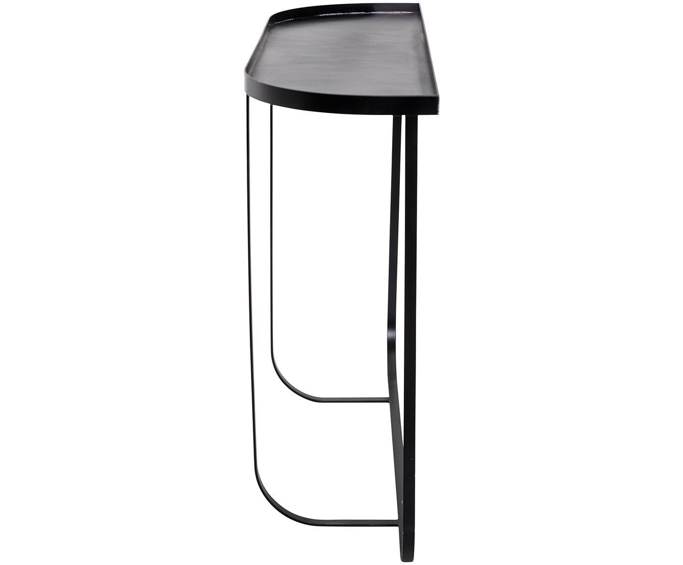 Konsola z metalu Harper, Metal malowany proszkowo, Czarny, S 100 x G 30 cm