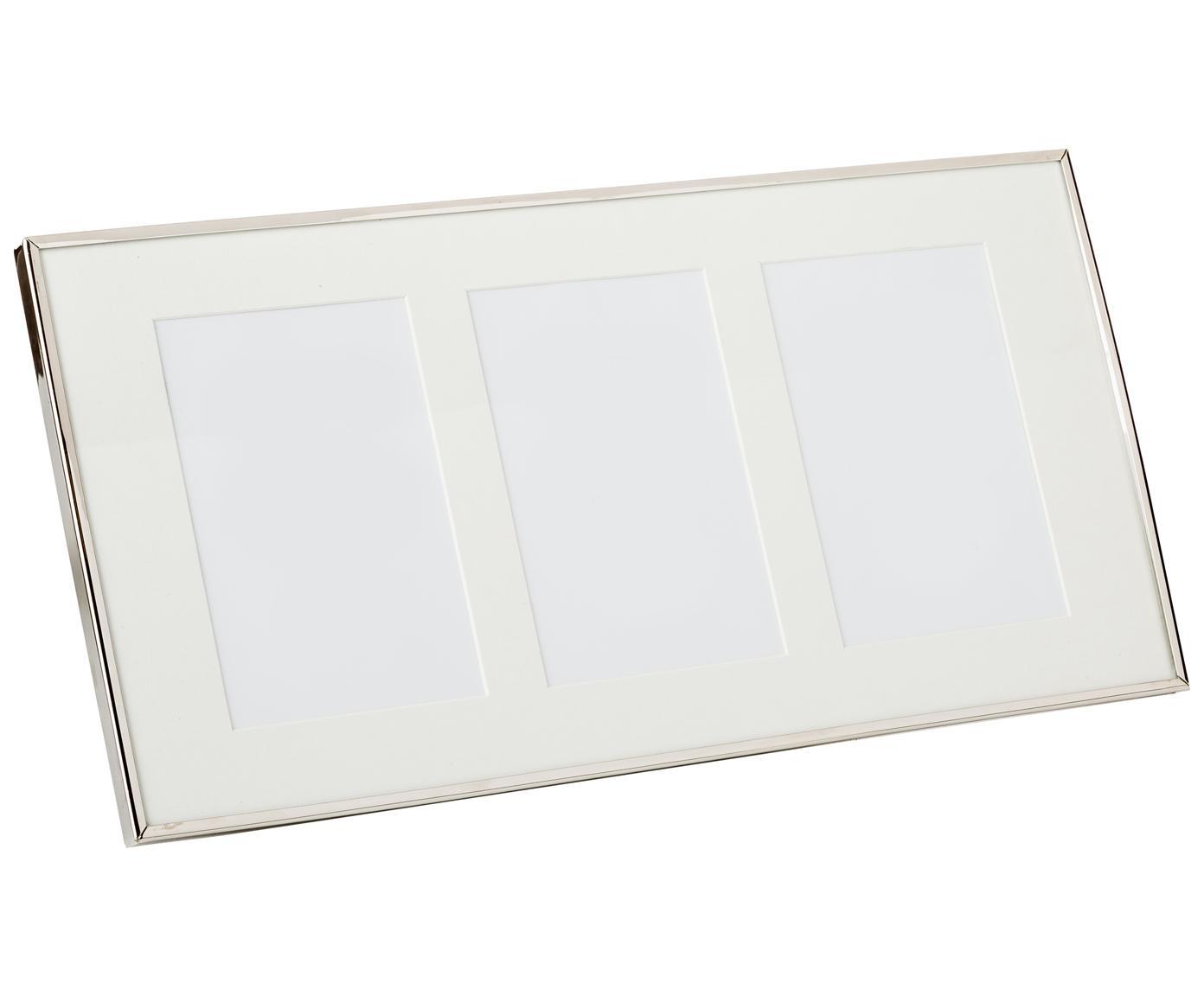 Marco Eva, Parte trasera: fibras de densidad media,, Plateado, Para 3 fotos de 10 x 15 cm.