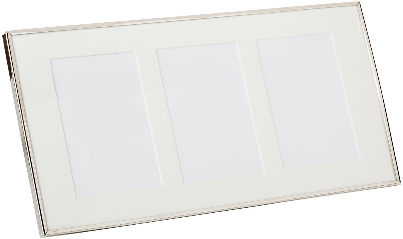 Bilderrahmen Eva, Rahmen: Metall, Front: Glas, Rückseite: Mitteldichte Faserplatte , Silberfarben, 10 x 15 cm