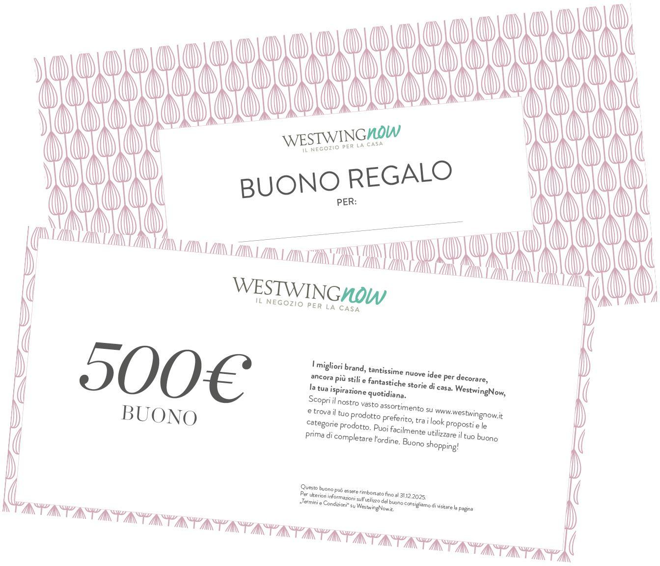 Buono regalo, Coupon stampato su carta di alta qualità e con busta propria, Bianco, 500