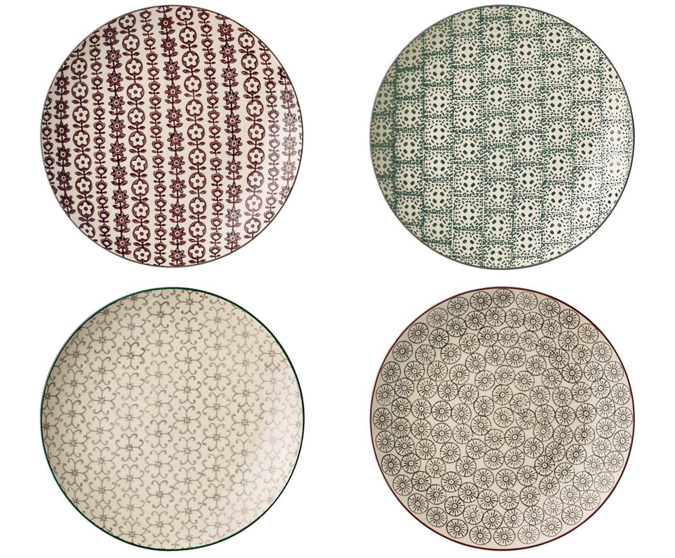 Set de platos postre Julia, 4pzas., Cerámica, Multicolor, Ø 20 cm