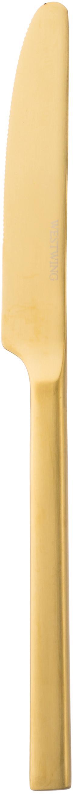 Goudkleurige bestekset Shine van edelstaal, in verschillende maten, Mes: edelstaal 13/0, Goudkleurig, 4 personen (20-delig)