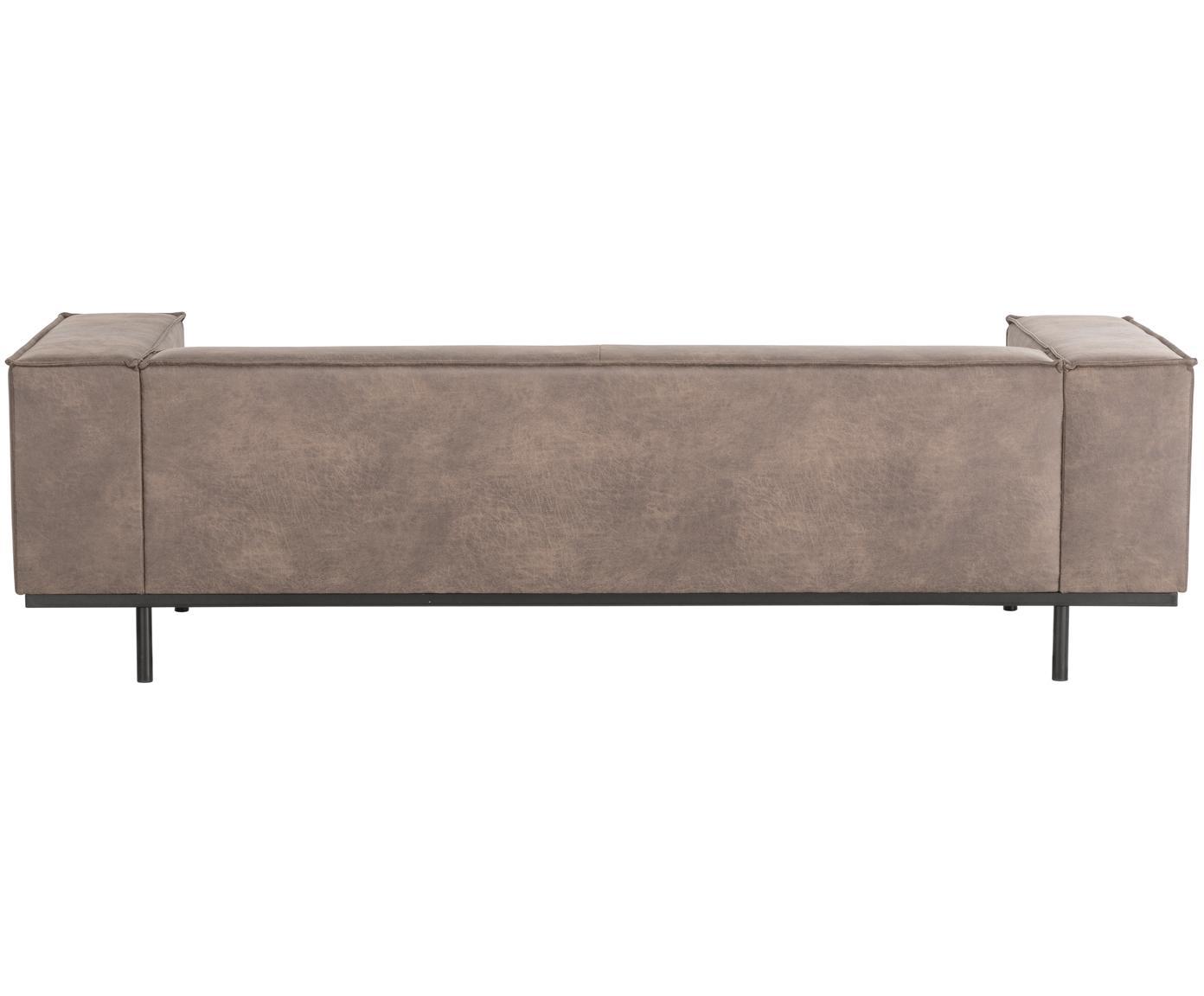 Leder-Sofa Abigail (3-Sitzer), Bezug: Lederfaserstoff (70% Lede, Beine: Stahl, lackiert, Leder Cognac, B 230 x T 95 cm