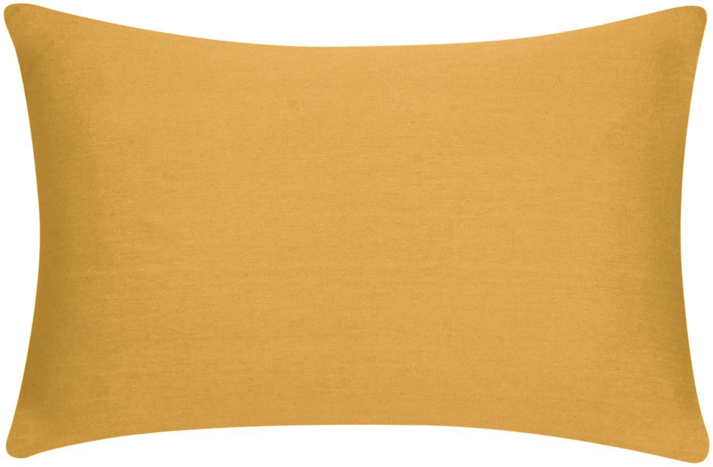 Baumwoll-Kissenhülle Mads in Senfgelb, 100% Baumwolle, Senfgelb, 30 x 50 cm