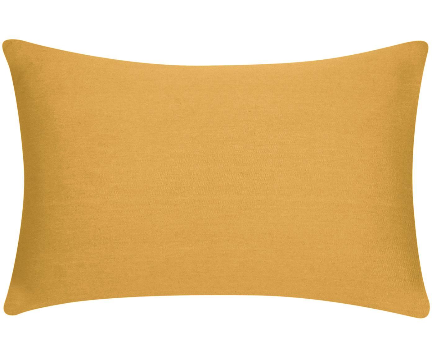 Funda de cojín de algodón Mads, Algodón, Mostaza, An 30 x L 50 cm