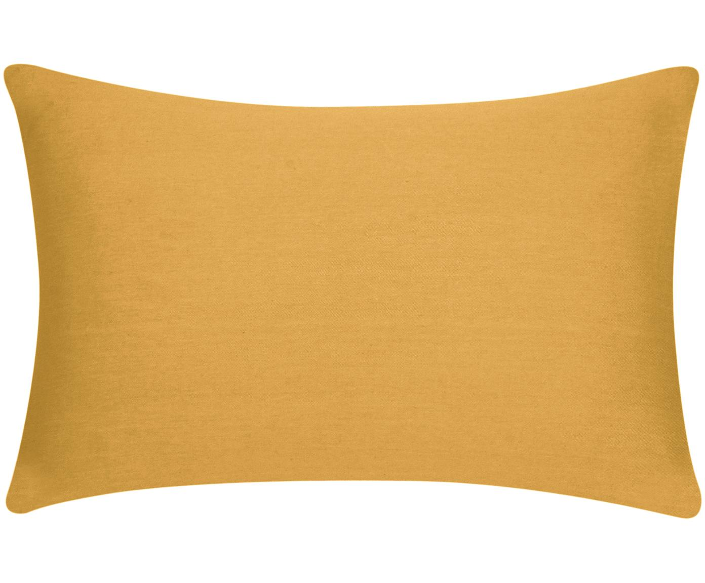 Kussenhoes Mads, 100% katoen, Mosterdgeel, 30 x 50 cm