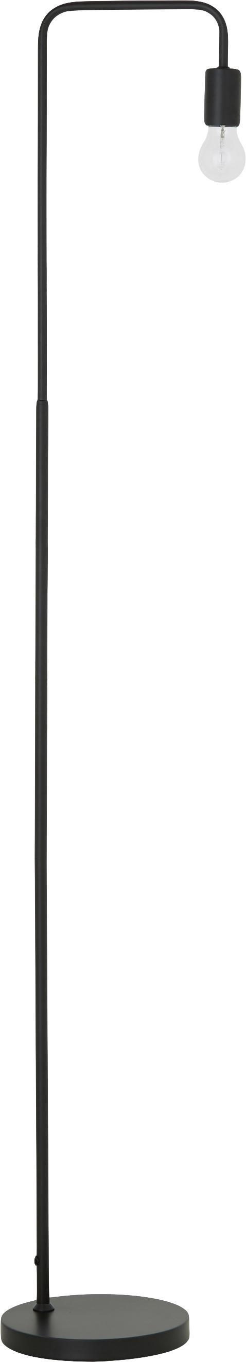 Stehlampe Flow, Schwarz, Schwarz, 33 x 153 cm