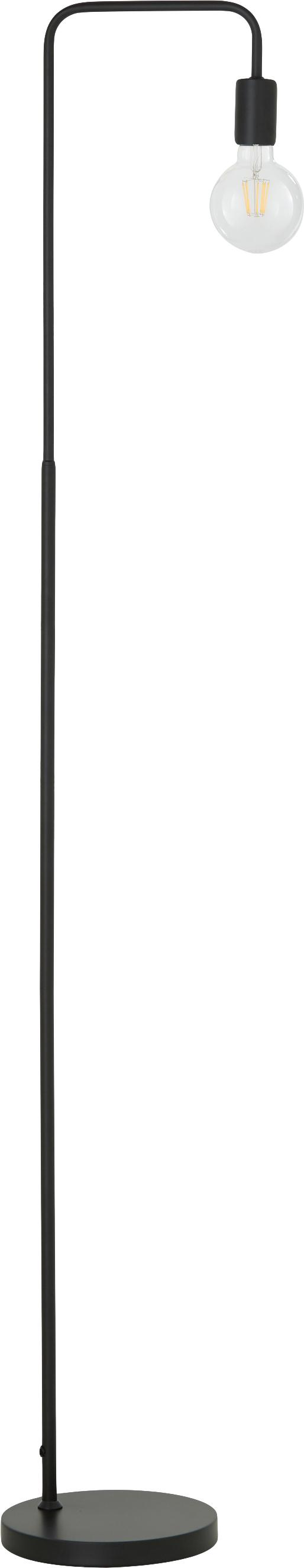 Lampada da terra nera Flow, Nero, nero, Larg. 33 x Alt. 153 cm