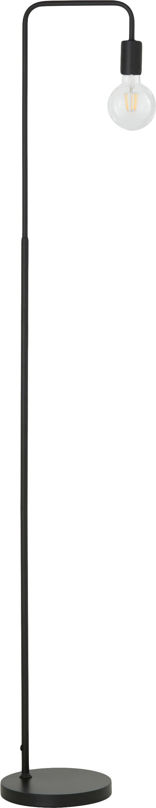 Stehlampe Flow aus Metall, Schwarz, Schwarz, 33 x 153 cm