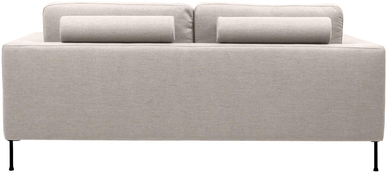Sofa Cucita (2-Sitzer), Bezug: Webstoff (Polyester) Der , Gestell: Massives Kiefernholz, Füße: Metall, lackiert, Webstoff Beige, B 187 x T 94 cm