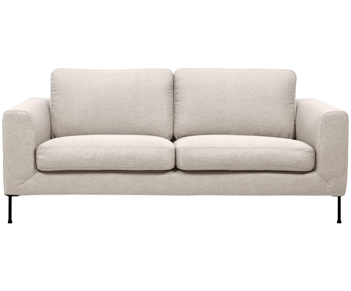 Sofa Cucita (2-Sitzer), Bezug: Webstoff (Polyester) 100., Gestell: Massives Kiefernholz, Webstoff Beige, B 187 x T 94 cm