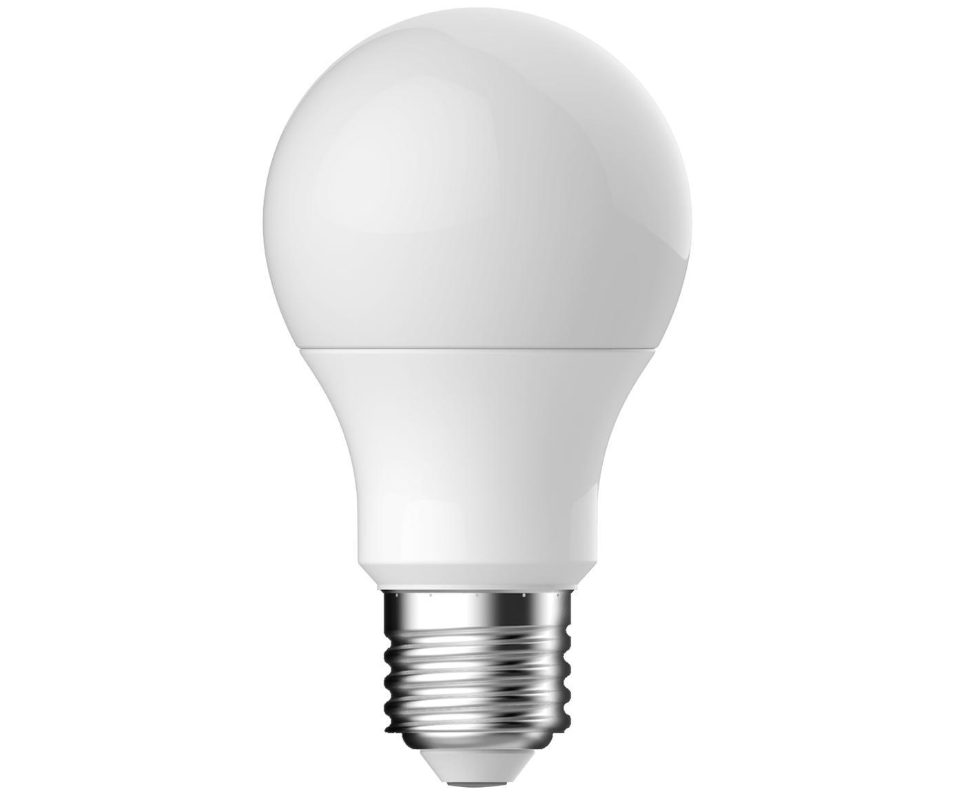 Bombilla LED regulable Frost (E27/11W), Ampolla: vidrio opalino, Casquillo: aluminio, Blanco, Ø 6 x Al 11 cm
