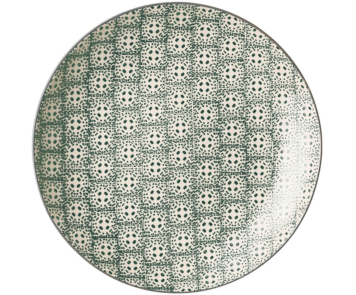 Set 4 piatti piani Karine, Terracotta, Multicolore, Ø 25 cm