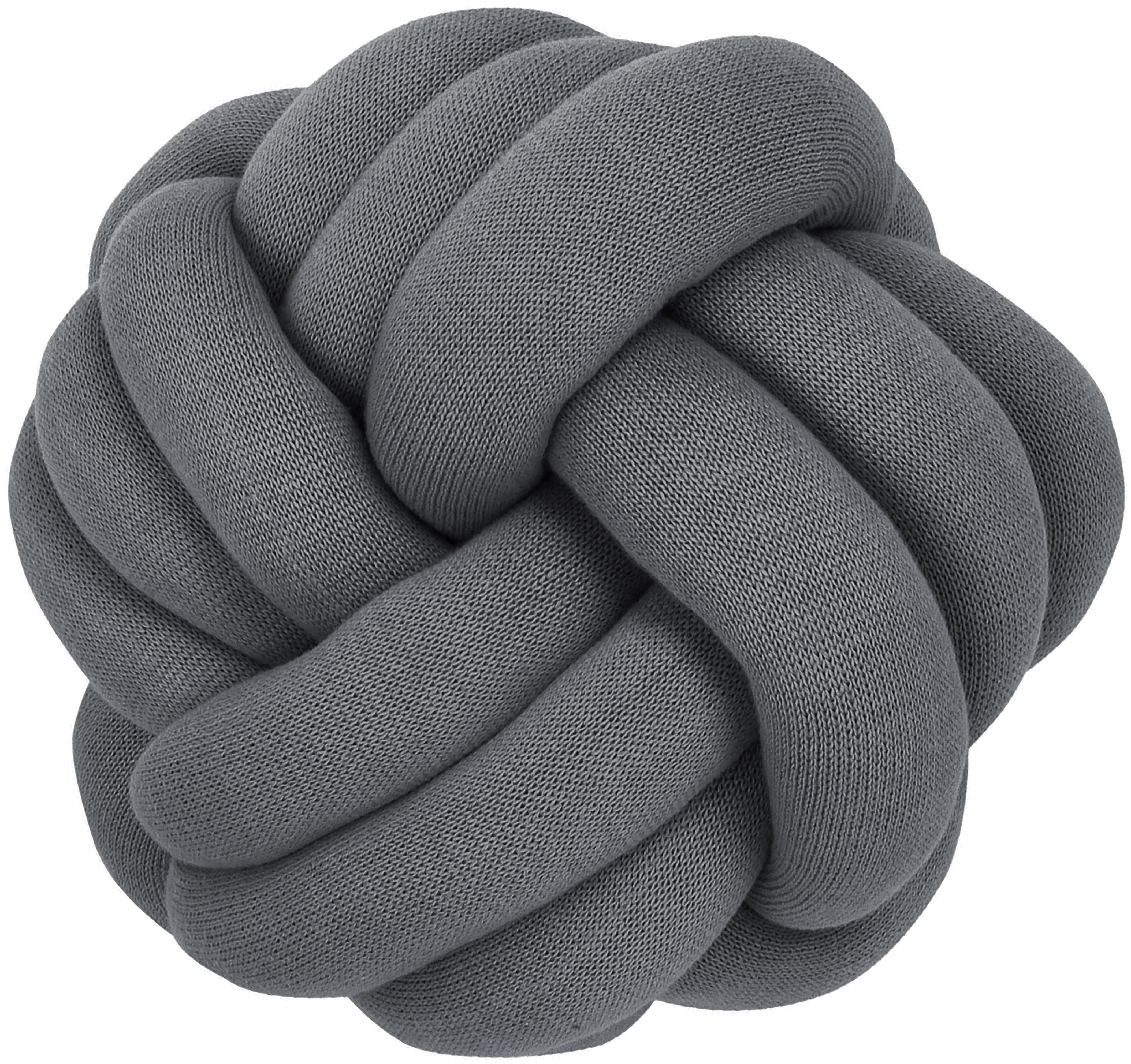 Coussin nœud Twist, Gris foncé