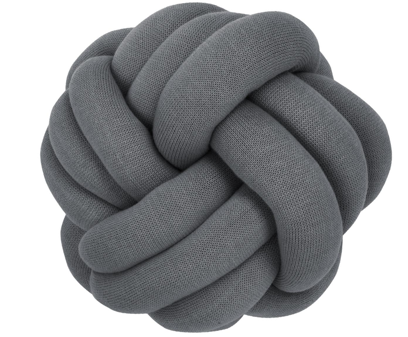 Cojín nudo Twist, Gris oscuro, Ø 30 cm