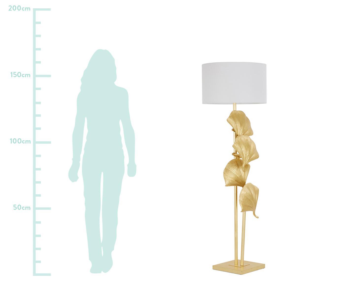 Lampa podłogowa Ginkgo, Odcienie złotego, matowy, Ø 50 x W 160 cm