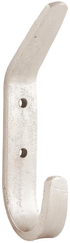 Gancio appendiabiti in metallo Forga 2 pz, Metallo, Metallo, Larg. 2 x Alt. 12 cm