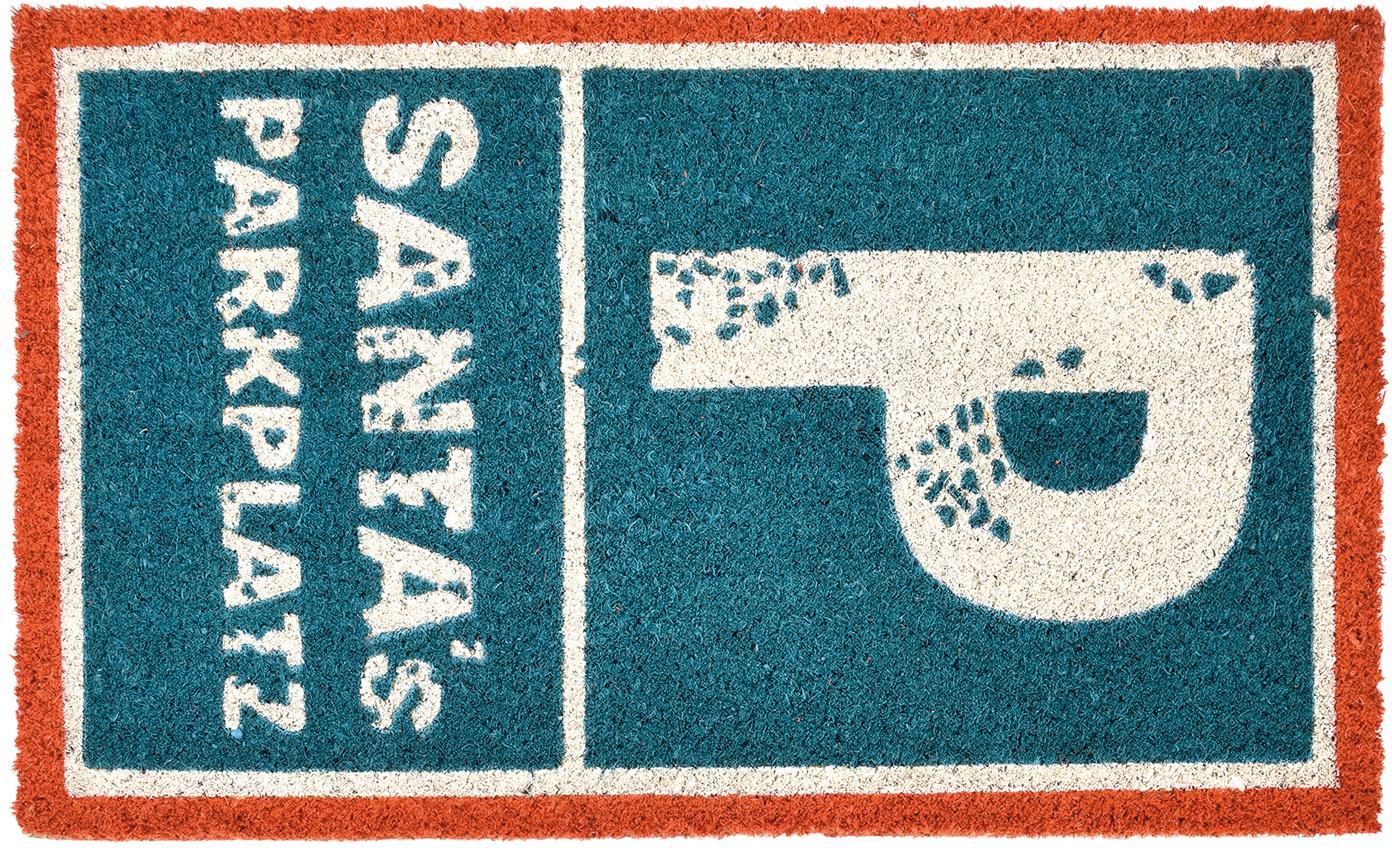 Wycieraczka Parkplatz, Niebieski, czerwony, biały, S 45 x D 75 cm