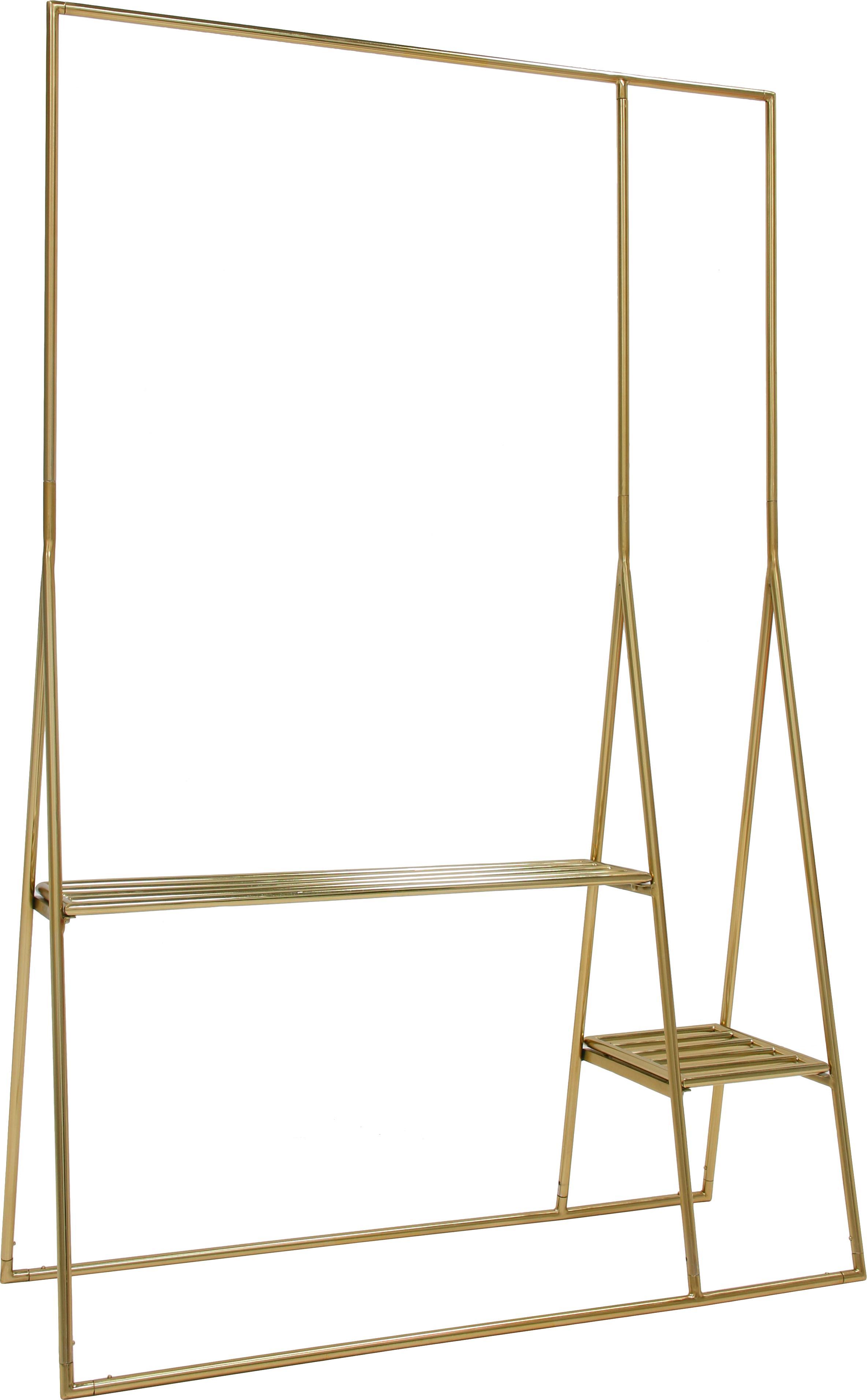 Metall-Kleiderständer Stacker in Goldfarben, Metall, beschichtet, Messingfarben, 125 x 190 cm