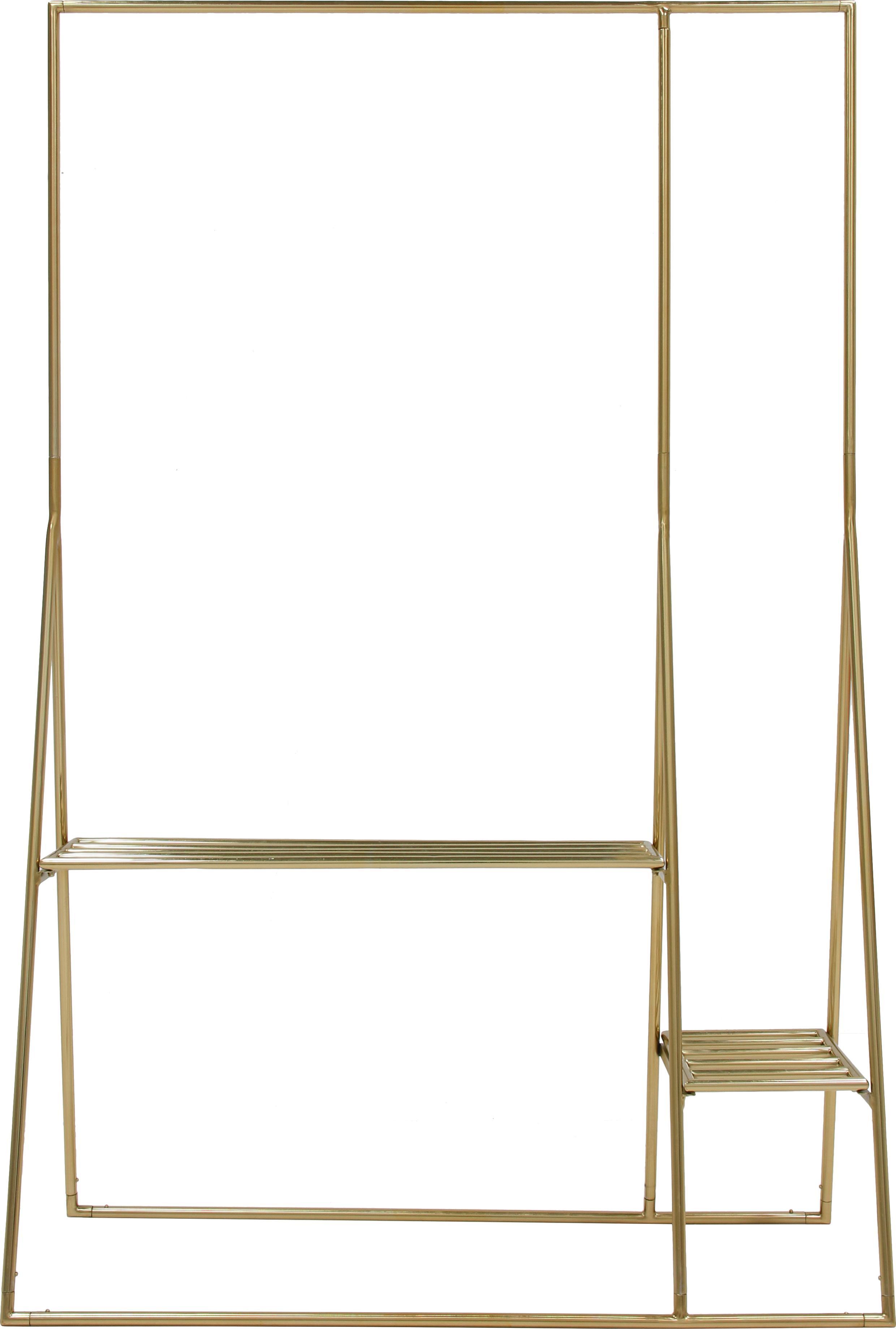 Appendiabiti in metallo Stacker, Metallo, rivestito, Ottonato, Larg. 125 x Alt. 190 cm