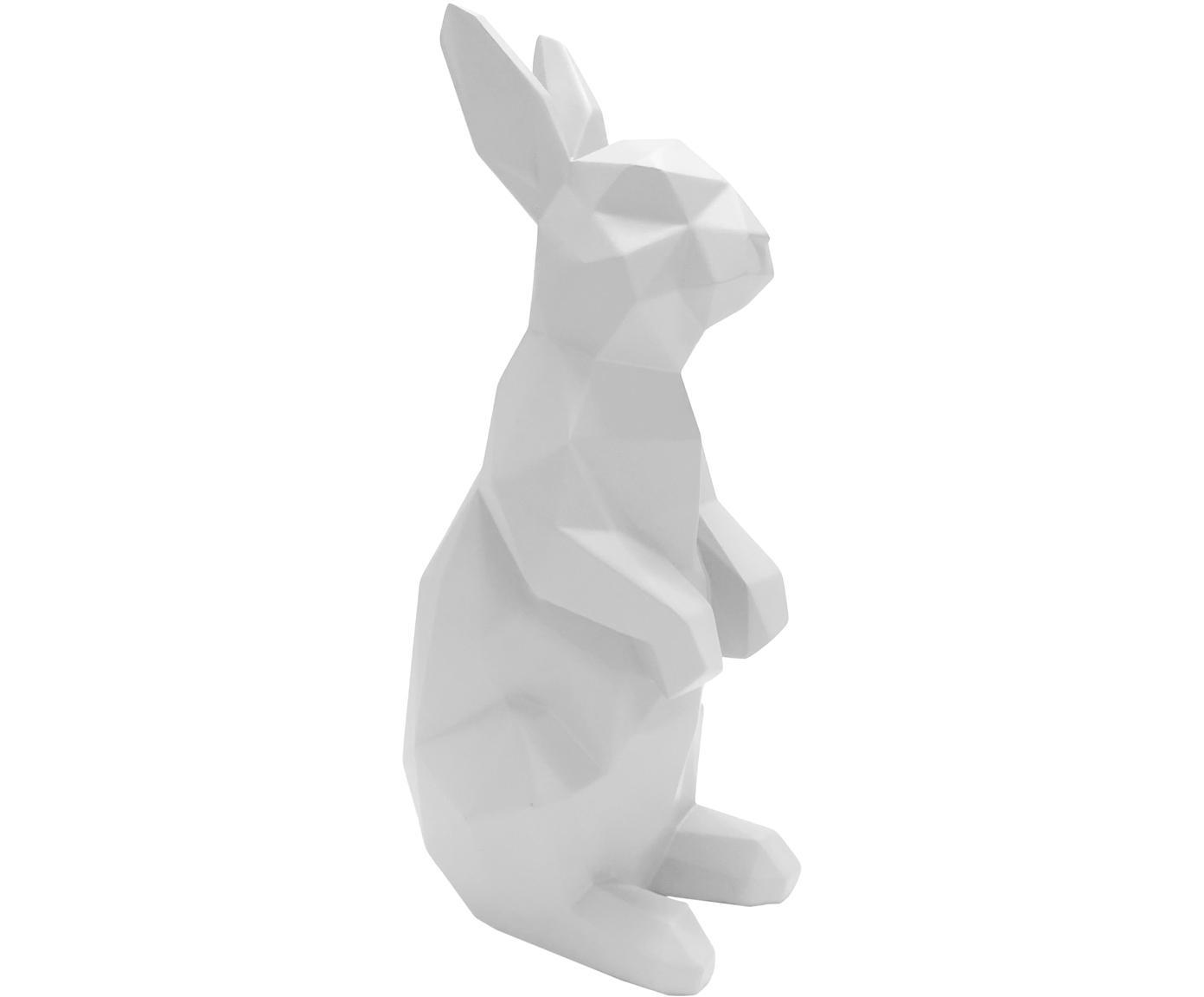 Decoratief object Origami Bunny, Polyresin, Wit, 25 x 13 cm