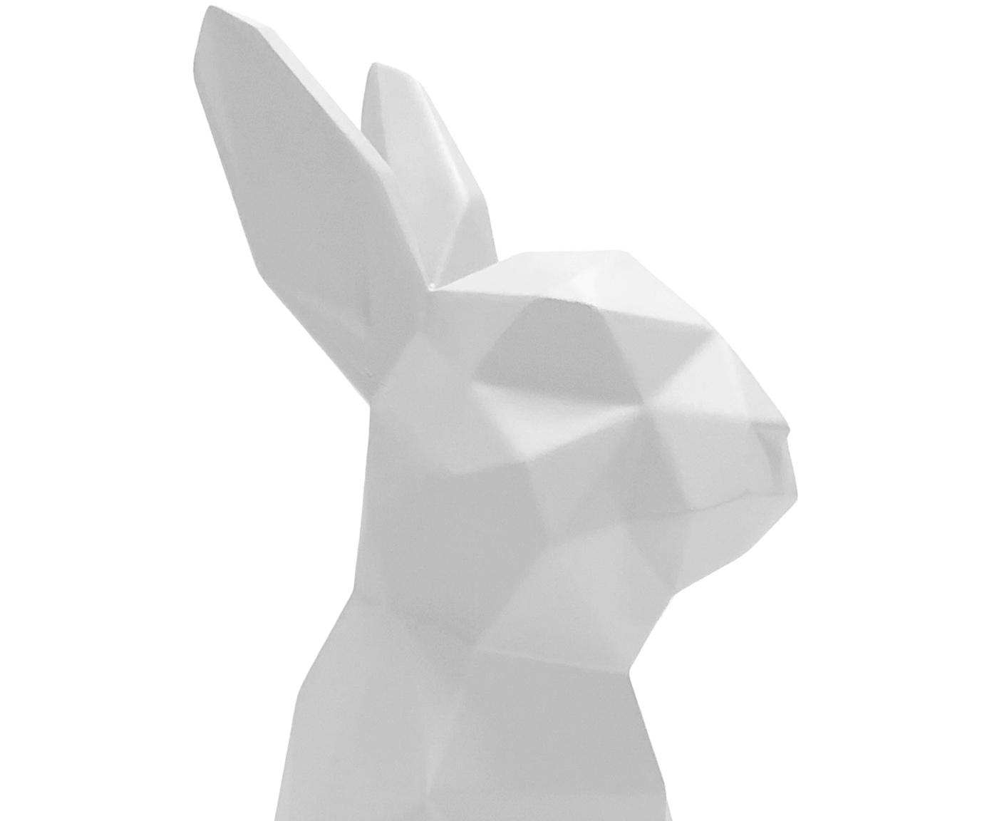 Dekoracja Origami Bunny, Poliresing, Biały, S 25 x W 13 cm