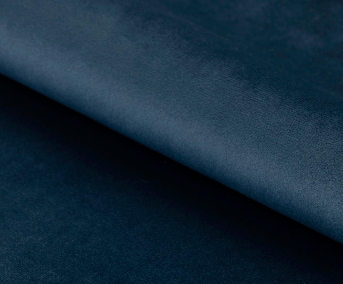 Sedia con braccioli girevole in velluto Lucie, Rivestimento: velluto di poliestere 25., Gambe: metallo verniciato a polv, Blu scuro, nero, Larg. 58 x Prof. 62 cm