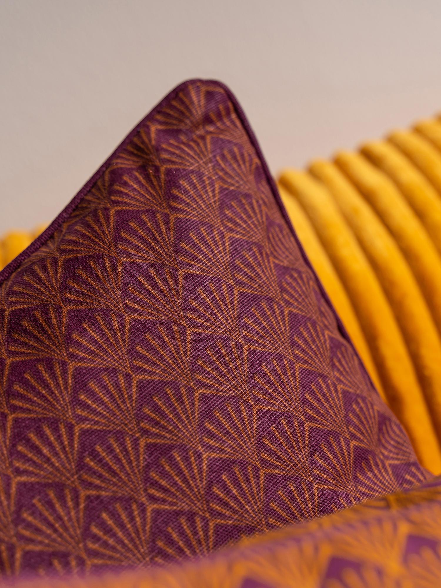 Poduszka  z wypełnieniem Feather, Tapicerka: 100% bawełna, Burgundowy, pomarańczowy, S 45 x D 45 cm
