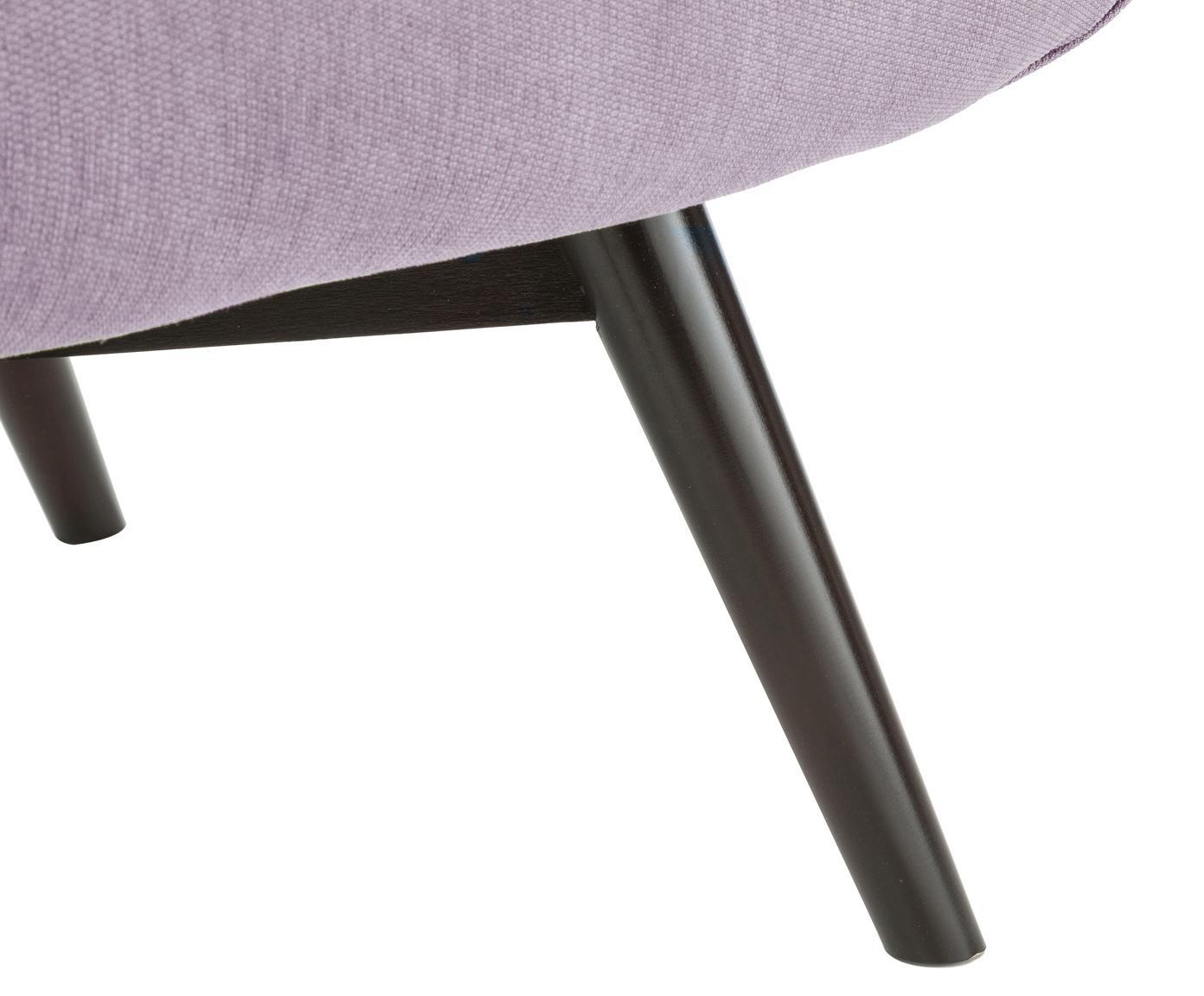 Sessel Clark, Bezug: 90% Polyester, 10% Polyam, Beine: Eichenholz, lackiert, lac, Rahmen: Holzgrundgestell, Altrosa, 80 x 94 cm