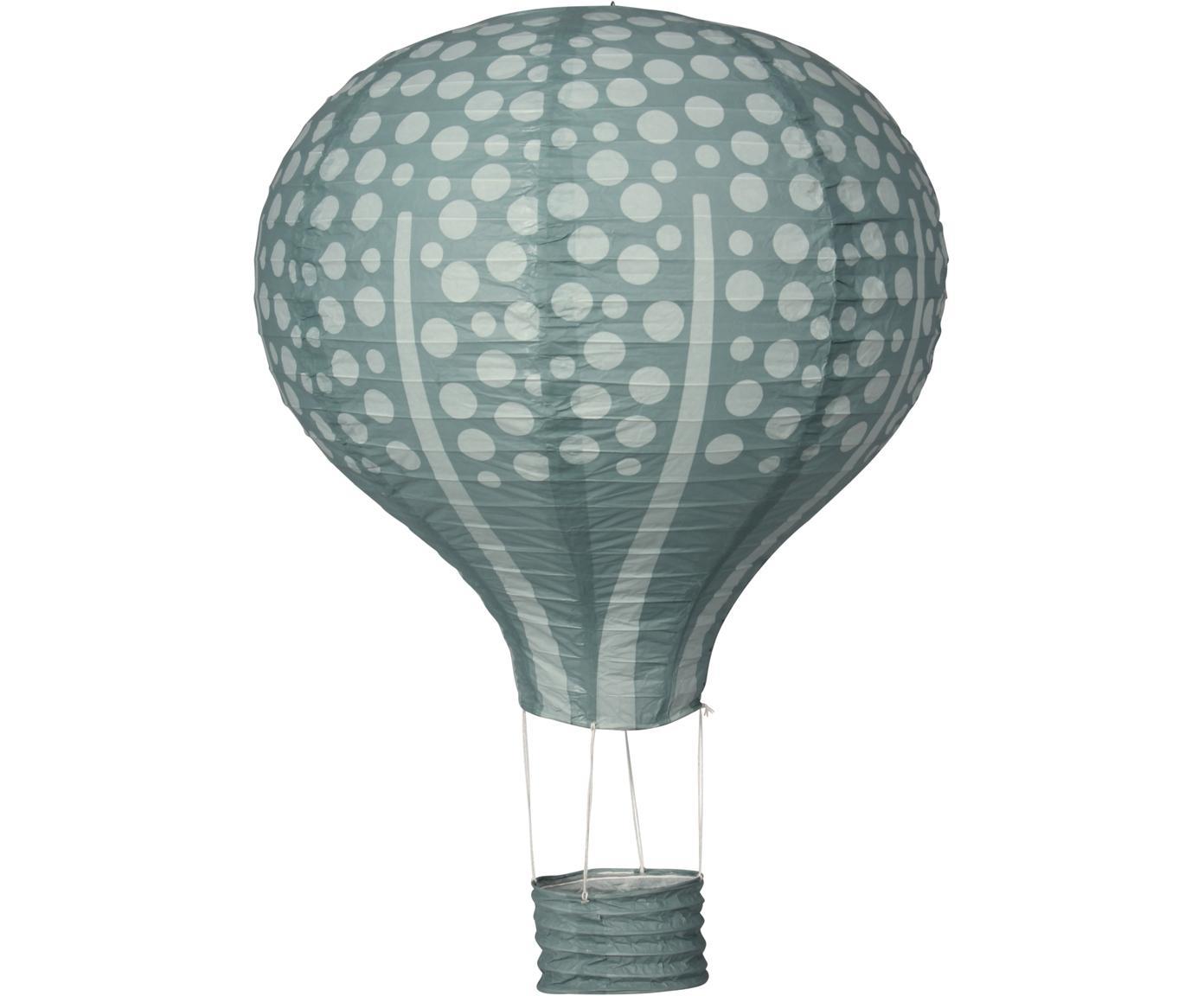 Deko-Objekt Forest Balloon, Papier, Metall, Baumwolle, Mintgrün, Grün, Ø 40 cm