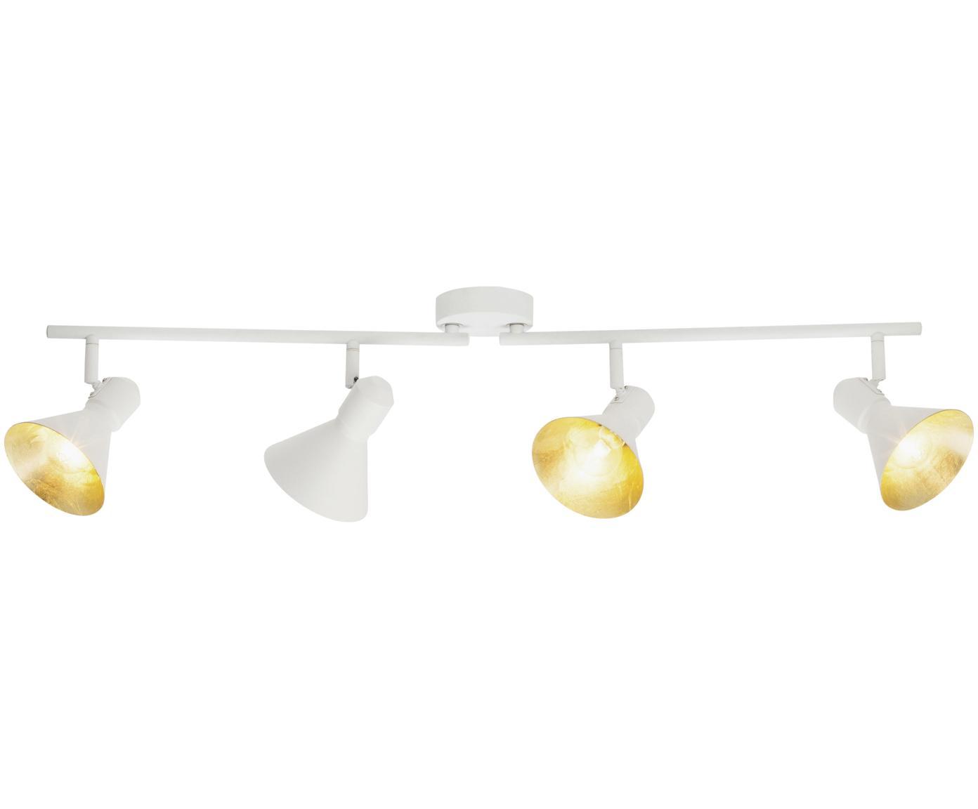 Faretti da soffitto Aztekas, Metallo, Bianco, Larg. 90 x Alt. 18 cm