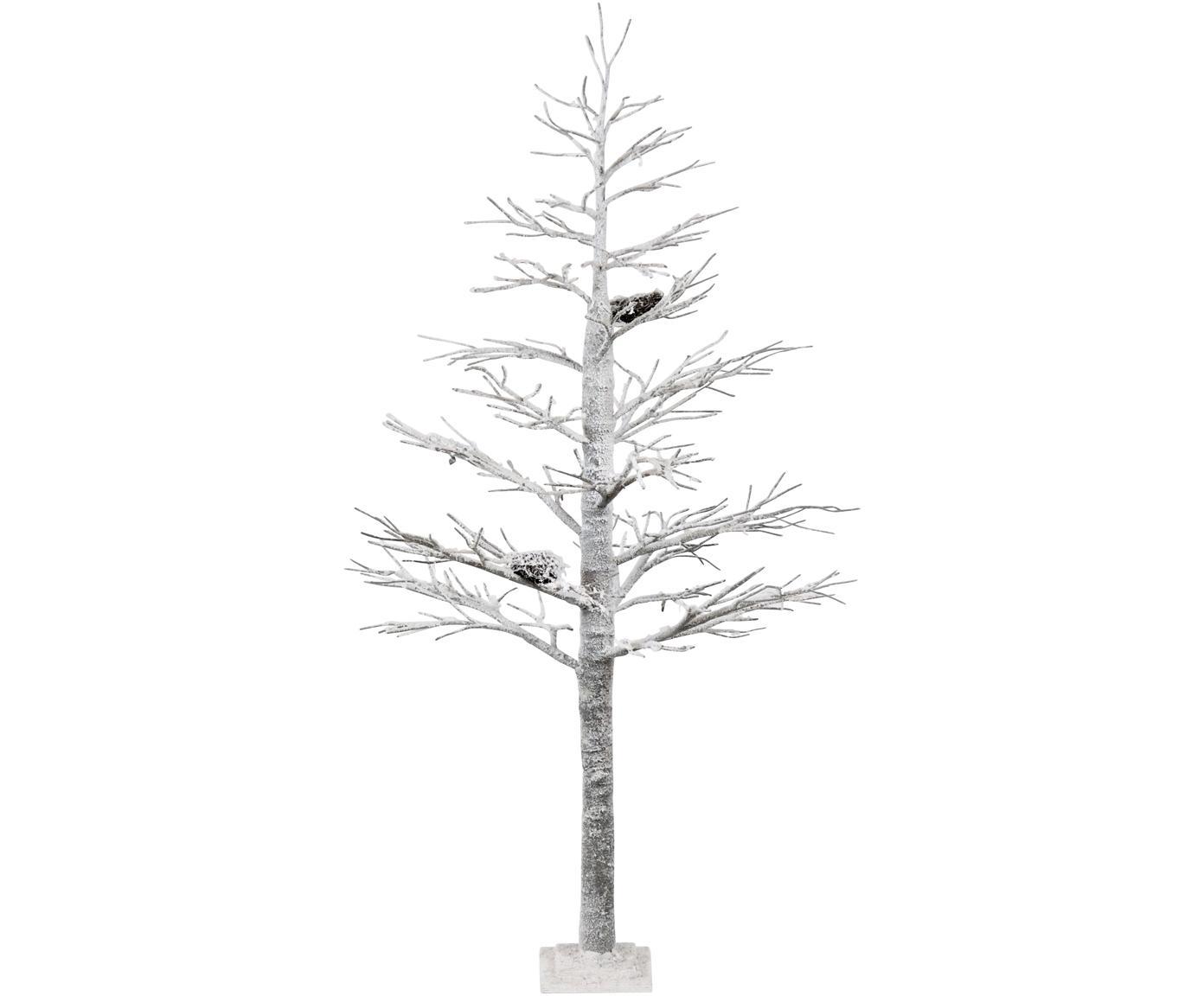 Deko-Objekt Ornament, Holz, bemalt, Weiß, Ø 70 x H 150 cm