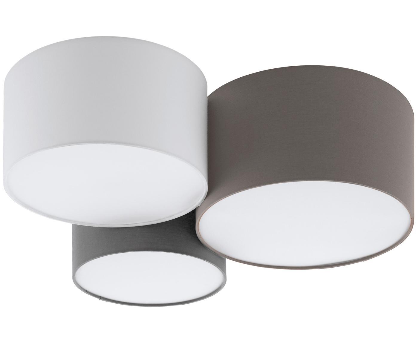 Plafón Pastore, Marrón, gris, blanco, Ø 61 x Al 26 cm