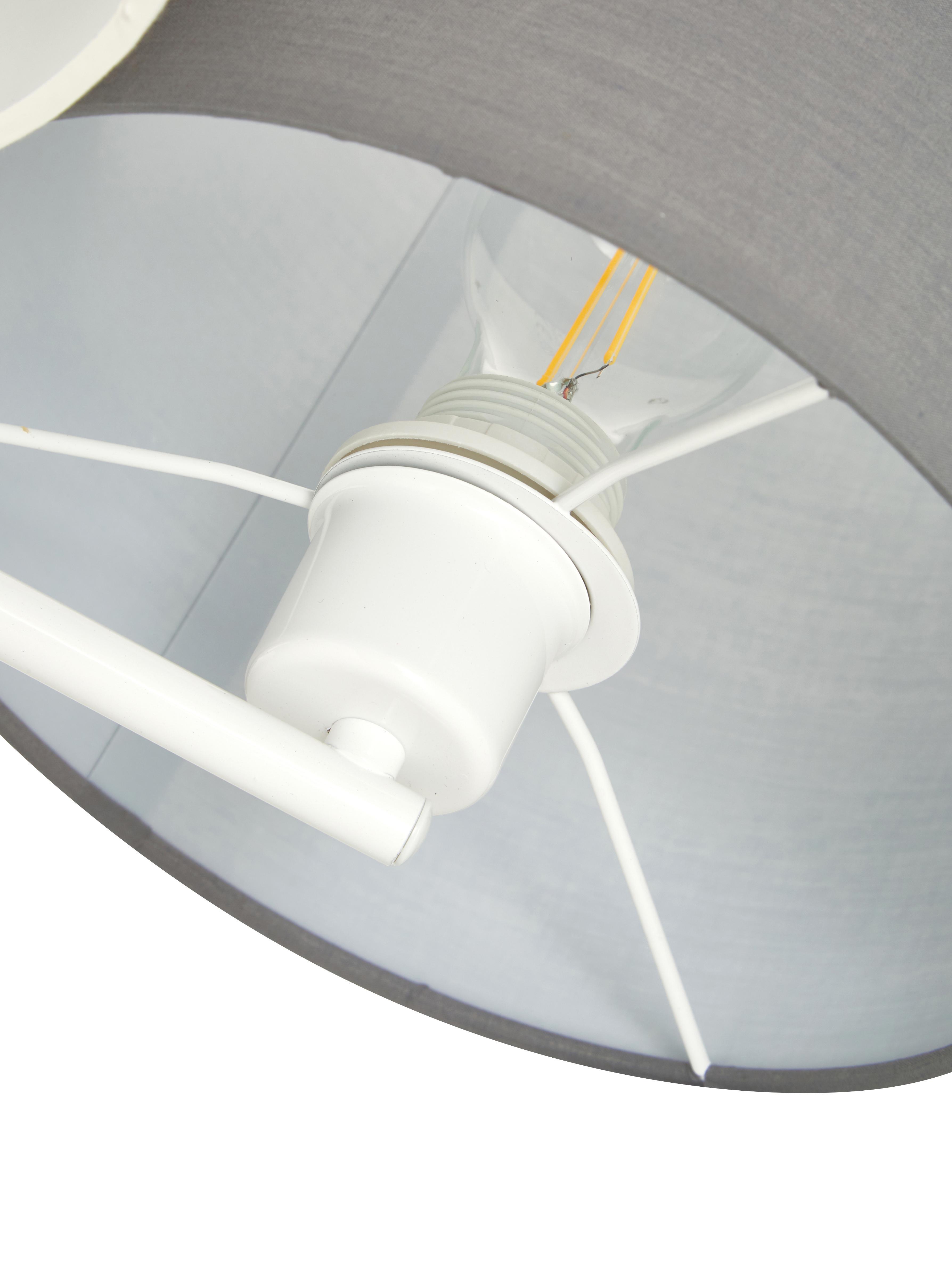 Deckenleuchte Pastore, Braun, Grau, Weiß, Ø 61 x H 26 cm
