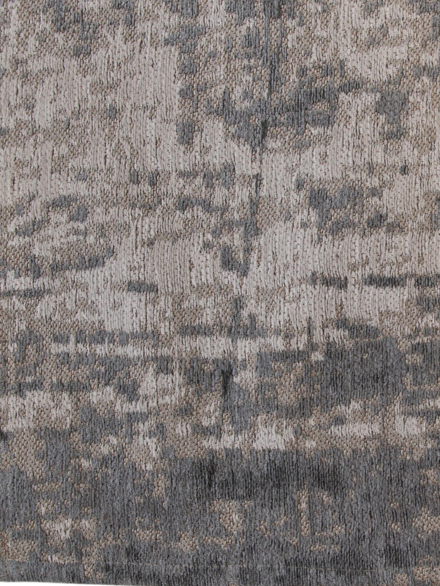 Tapis à poils ras gris blanc Griff, Tons gris, blanc
