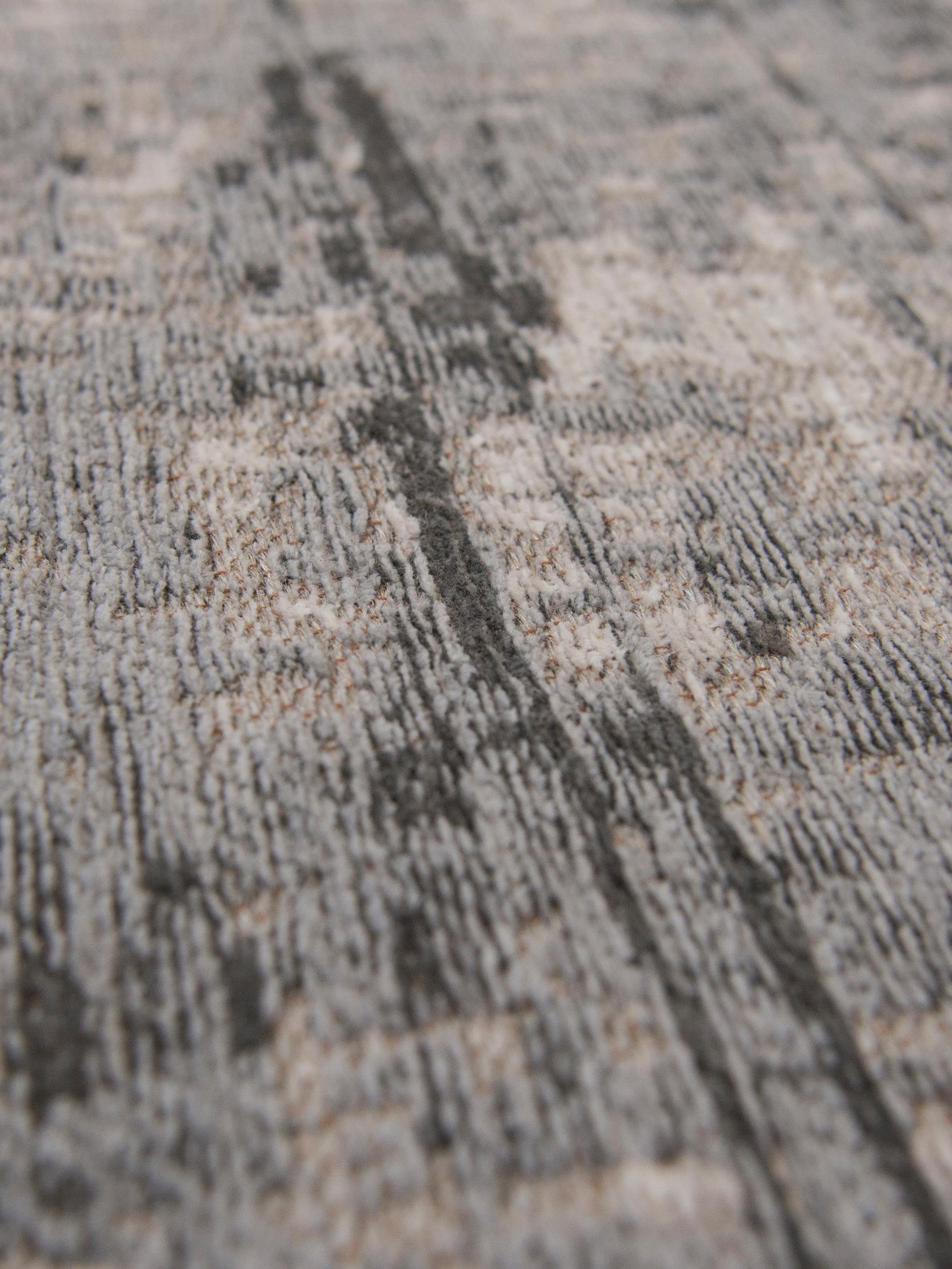 Teppich Griff, Vorderseite: 85%Baumwolle, 15%hochgl, Webart: Jacquard, Rückseite: Baumwollgemisch, latexbes, Grautöne, Weiß, B 230 x L 330 cm (Größe L)