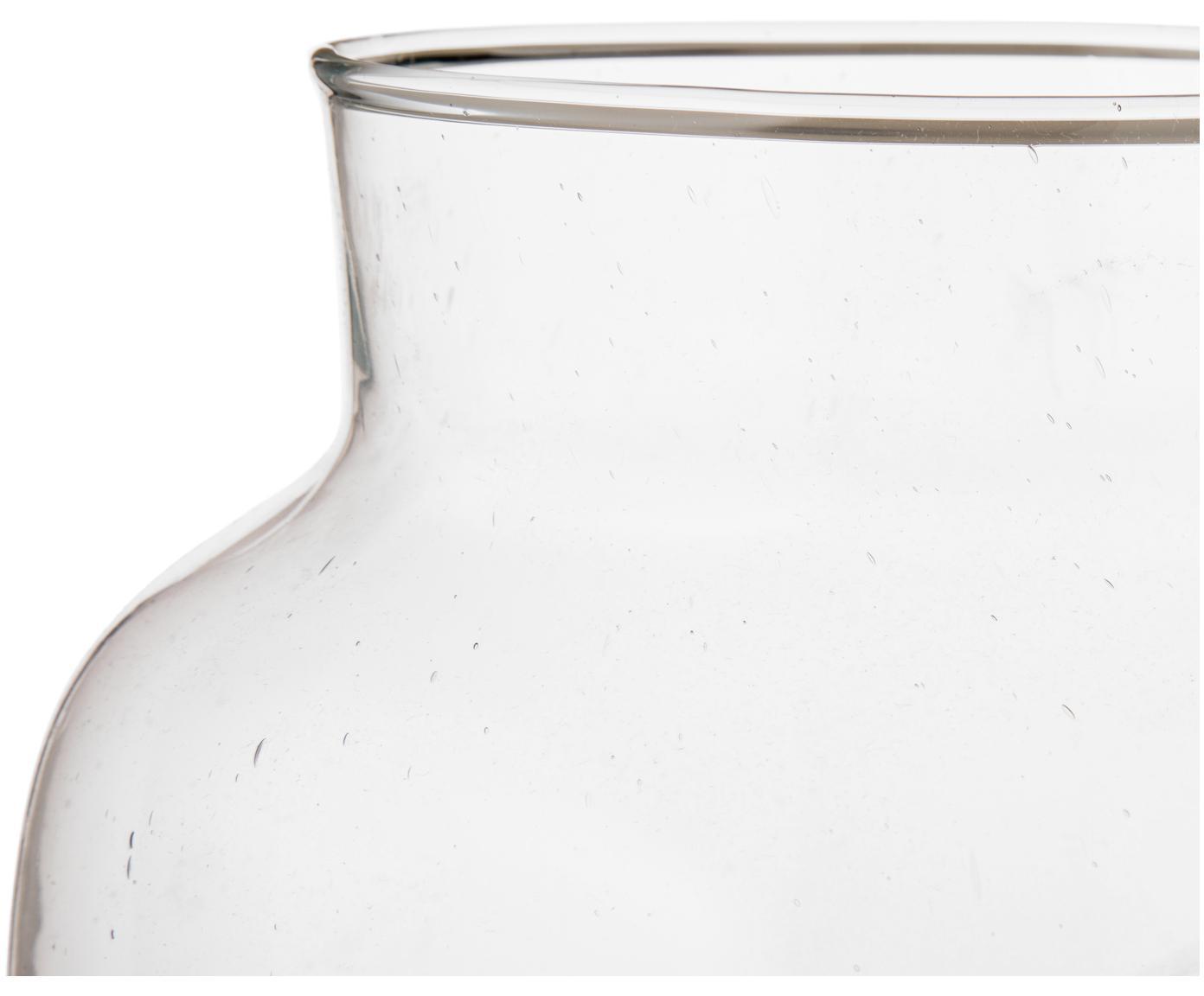 Vaas Dona, Gerecycled glas, Transparant, Ø 22 x H 23 cm