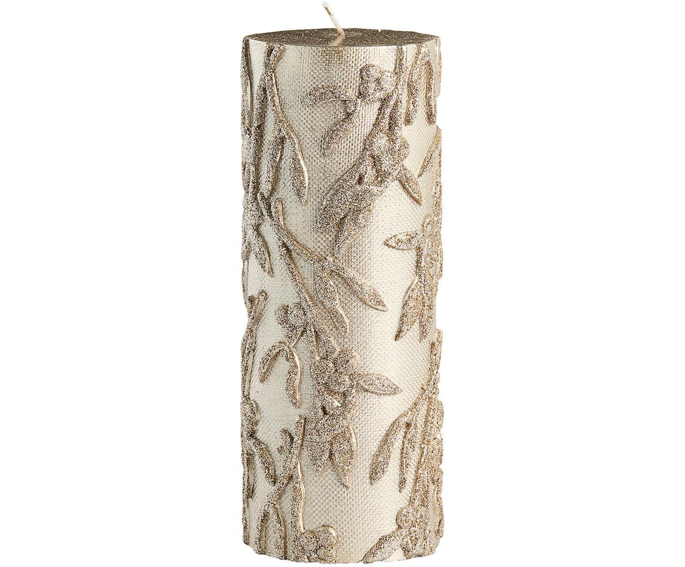 Vela pilar Mistle, Parafina, Dorado, Ø 7 x Al 20 cm