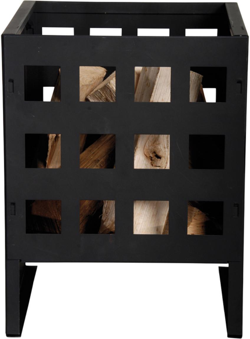 Brasero Grann, Metal, Negro, An 30 x Al 40 cm