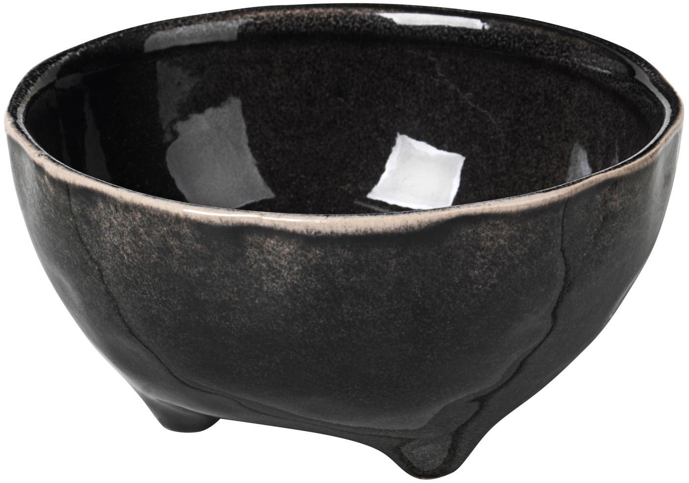 Handgemachte Schälchen Nordic Coal Ø 11 aus Steingut, 4 Stück, Steingut, Bräunlich, Ø 11 x H 6 cm