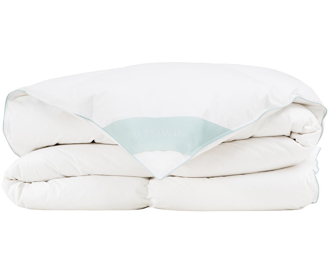 Daunen-Bettdecke Comfort, warm, Hülle: 100% Baumwolle, feine Mak, Weiß, 135 x 200 cm