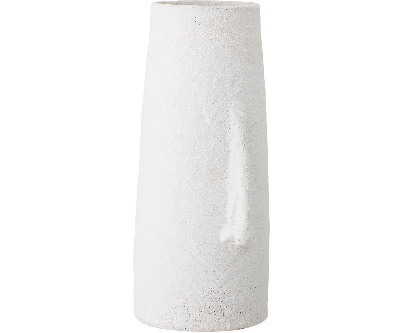 Duży wazon dekoracyjny z terakoty Nose, Terakota, Biały, S 20 x W 40 cm