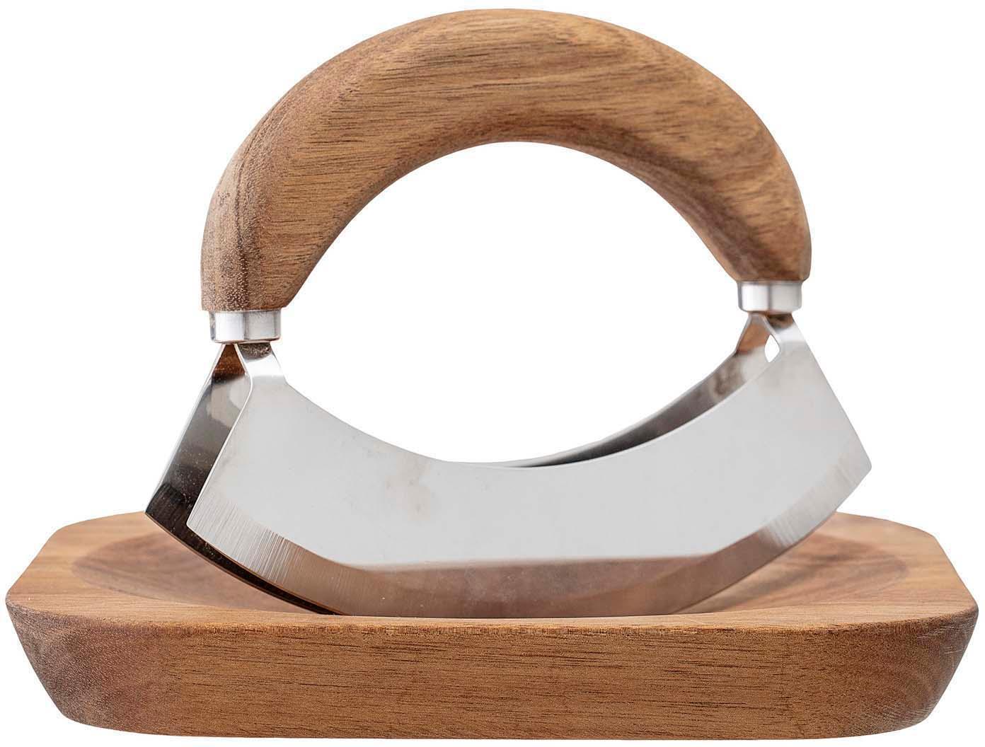 Set coltello mezzaluna Cut 2 pz, Legno di acacia, acciaio inossidabile, Legno di acacia, acciaio inossidabile, Set in varie misure