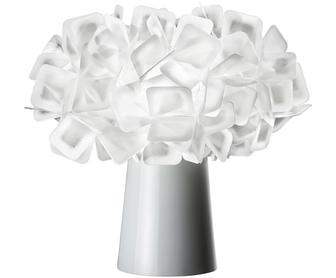 Design-Tischleuchte Clizia, Lampenschirm: Technopolymere Lentiflex®, Lampenfuß: Stahl, beschichtet, Weiß, Ø 27 x H 25 cm