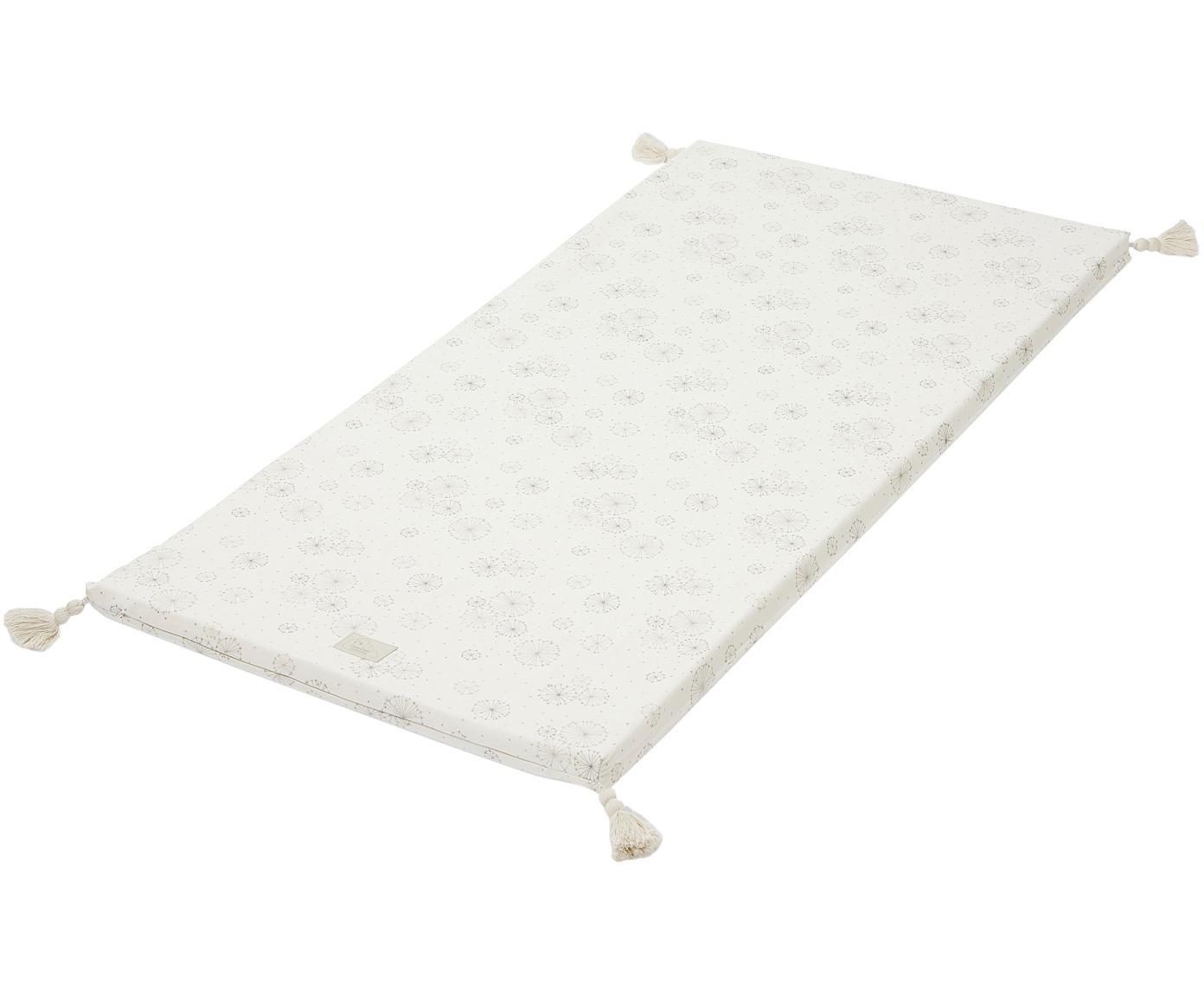 Spielmatte Dandelion aus Bio-Baumwolle, Bezug: Bio-Baumwolle, OCS-zertif, Creme, Beige, 60 x 120 cm