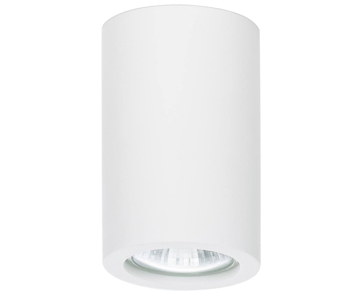 Lampa spot do malowania Gypsum, Gips, Biały, Ø 7 x W 11 cm