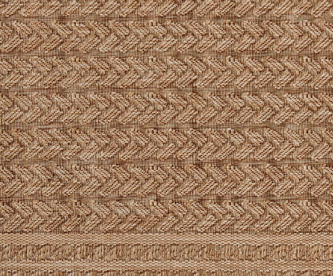 In- en outdoor vloerkleed Limonero in juten look, Polypropyleen, Beige, bruin, B 200 x L 290 cm (maat L)